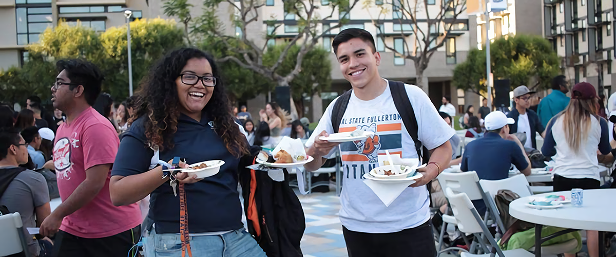 Students ready to feast during Titan Night Market