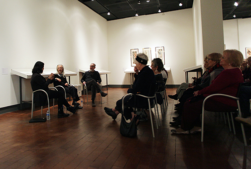 Masami Teraoka discusses his work in Begovich Gallery