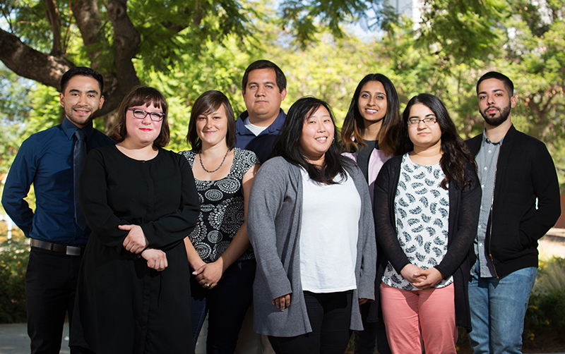 Members of Cal State Fullerton's 2016-17 California Pre-Doctoral Scholars