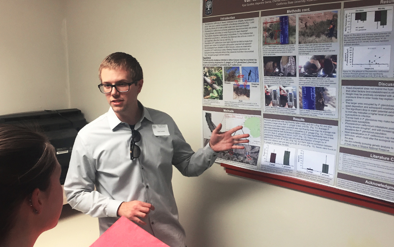 Kyle Gunther presenting a poster