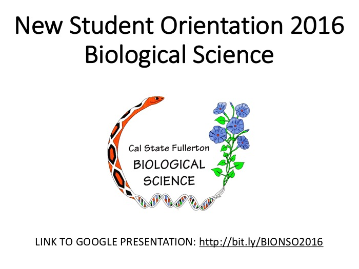 New Student Orientation Welcome Slide