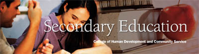 Secondary Education banner