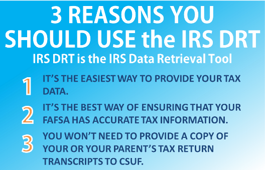 Home office of financial aid csuf why you should use the irs drt ccuart Image collections