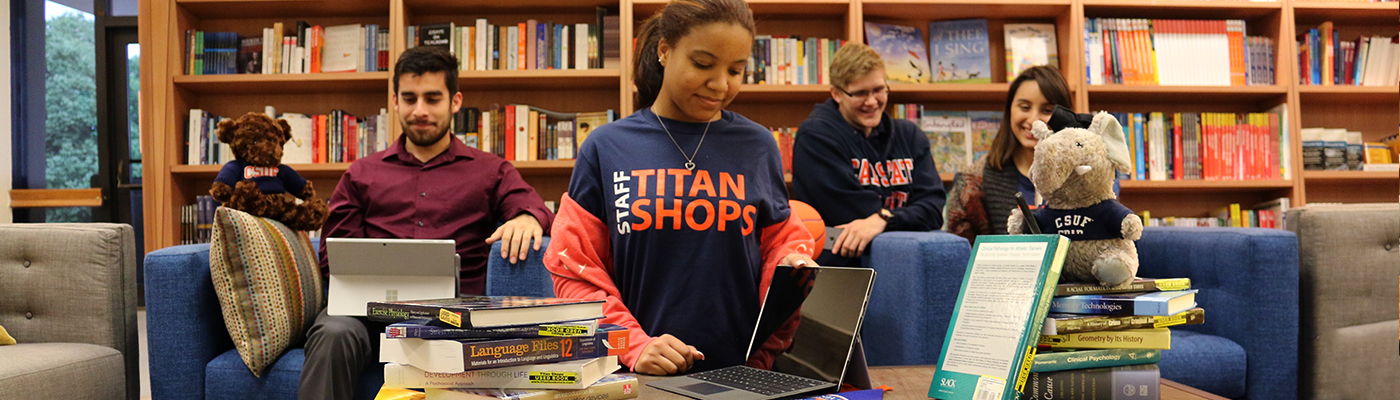 Students in Titan Shops