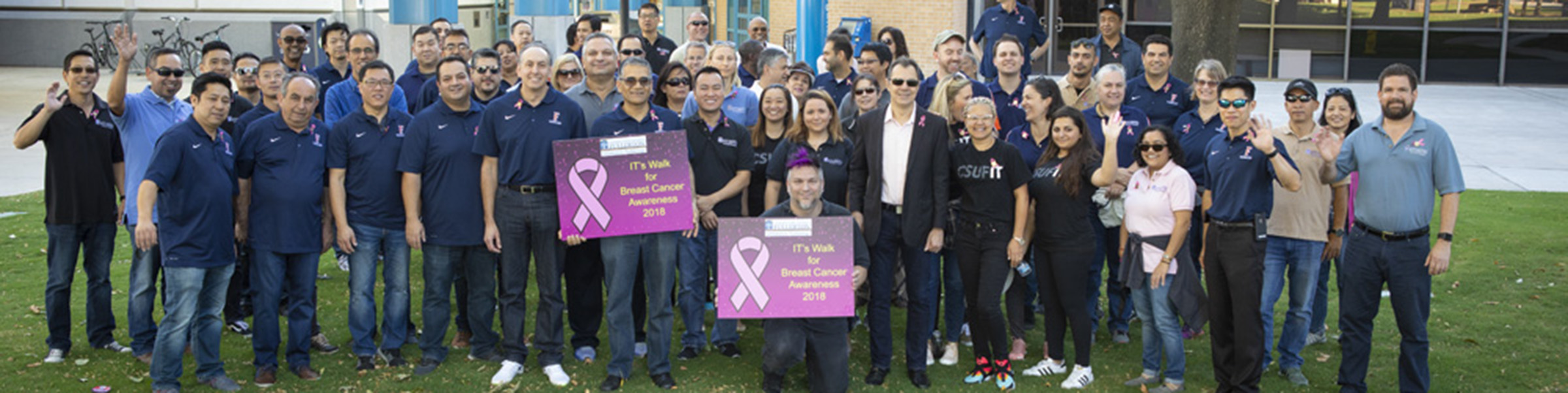 IT Staff at Walk for Breast Cancer Awareness