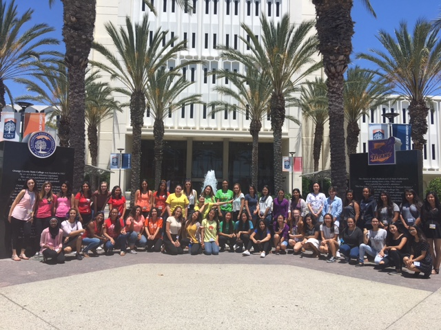 Rainbow Day group photo in front of Langsdorf Hall