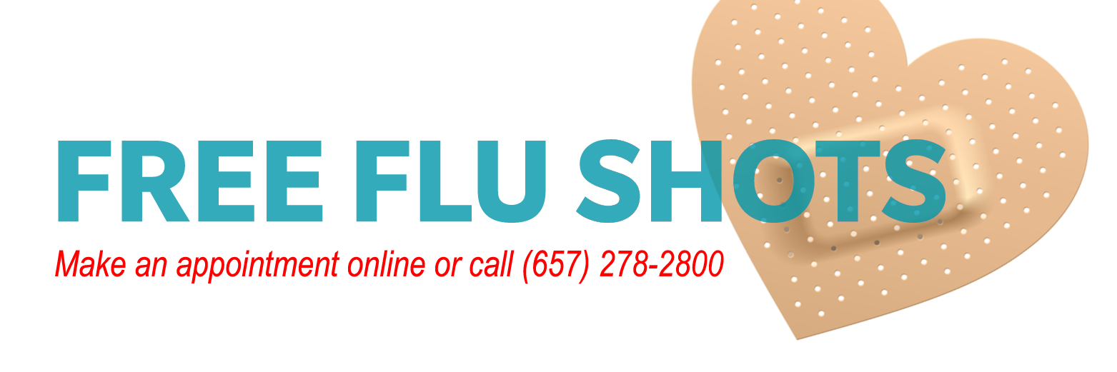 Free Flu Shots, make appointment online or call 657-278-2800